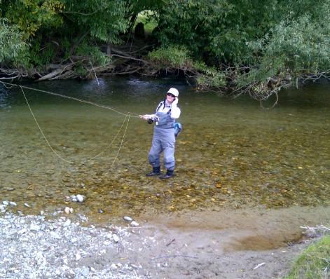 Betsy Fly fishing1