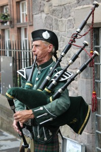 Traditional bagpipes of Scotland